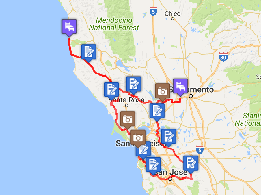 The 2016 Golden Gate 1000k Route